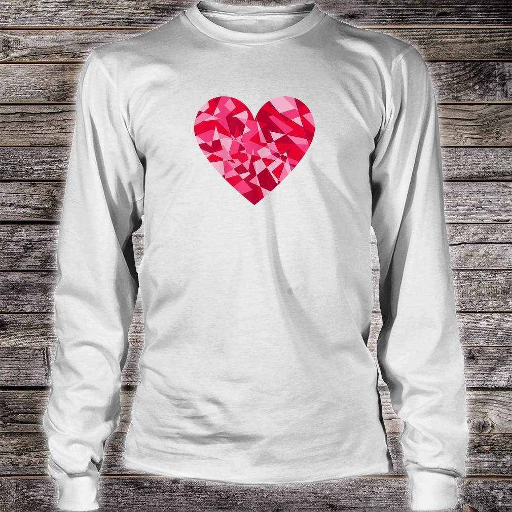 Pretty Mosaic Heart Valentines Day Shirt long sleeved