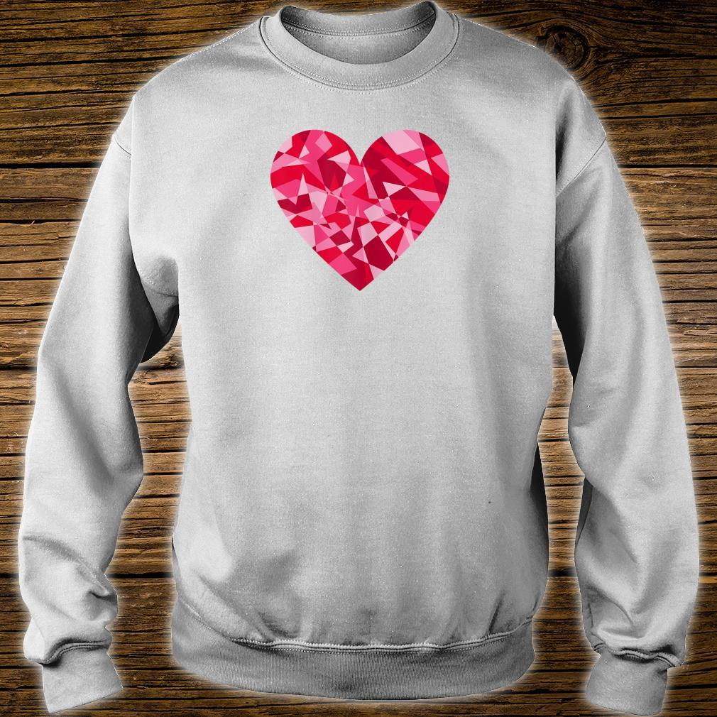 Pretty Mosaic Heart Valentines Day Shirt sweater