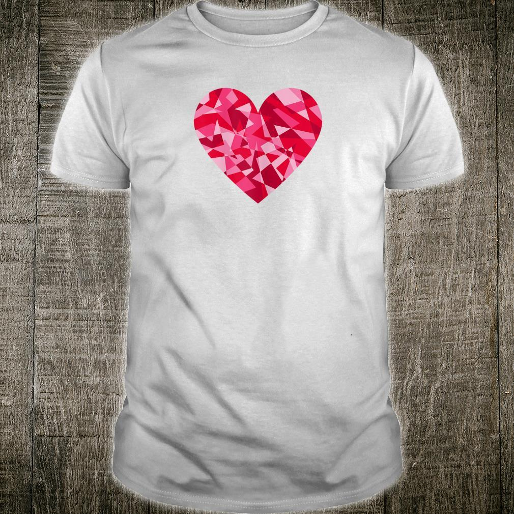 Pretty Mosaic Heart Valentines Day Shirt