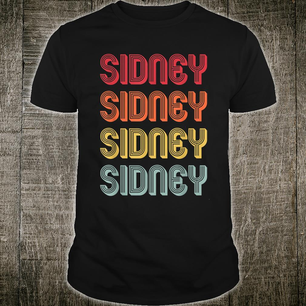 SIDNEY Name Personalized Shirt