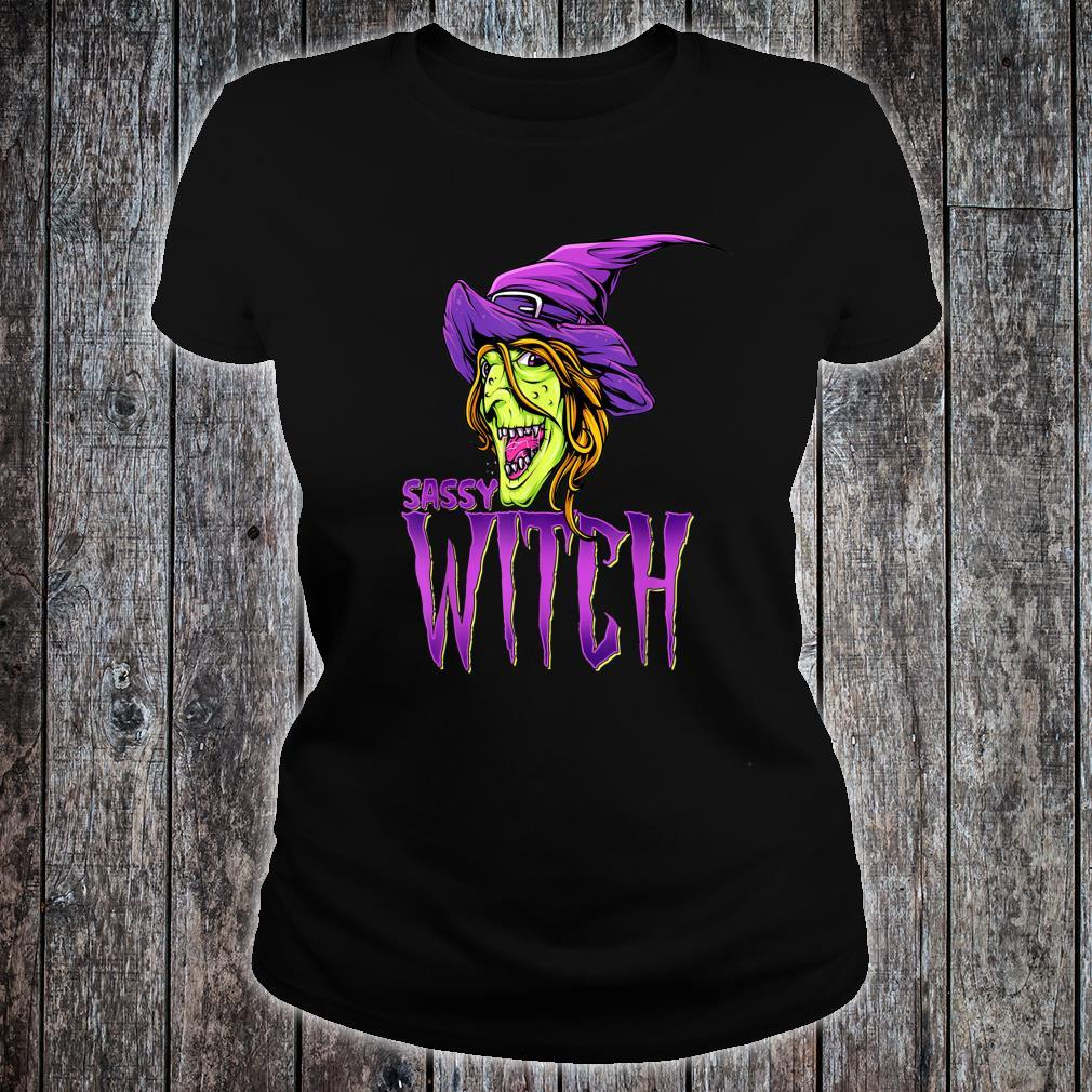 Sassy Witch Halloween Costume Matching Group Costume Shirt ladies tee