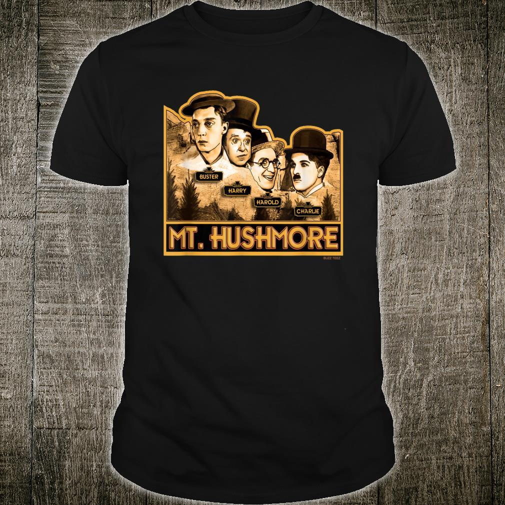 Silent Film Comedians On Mount Rushmore Novelty Shirt