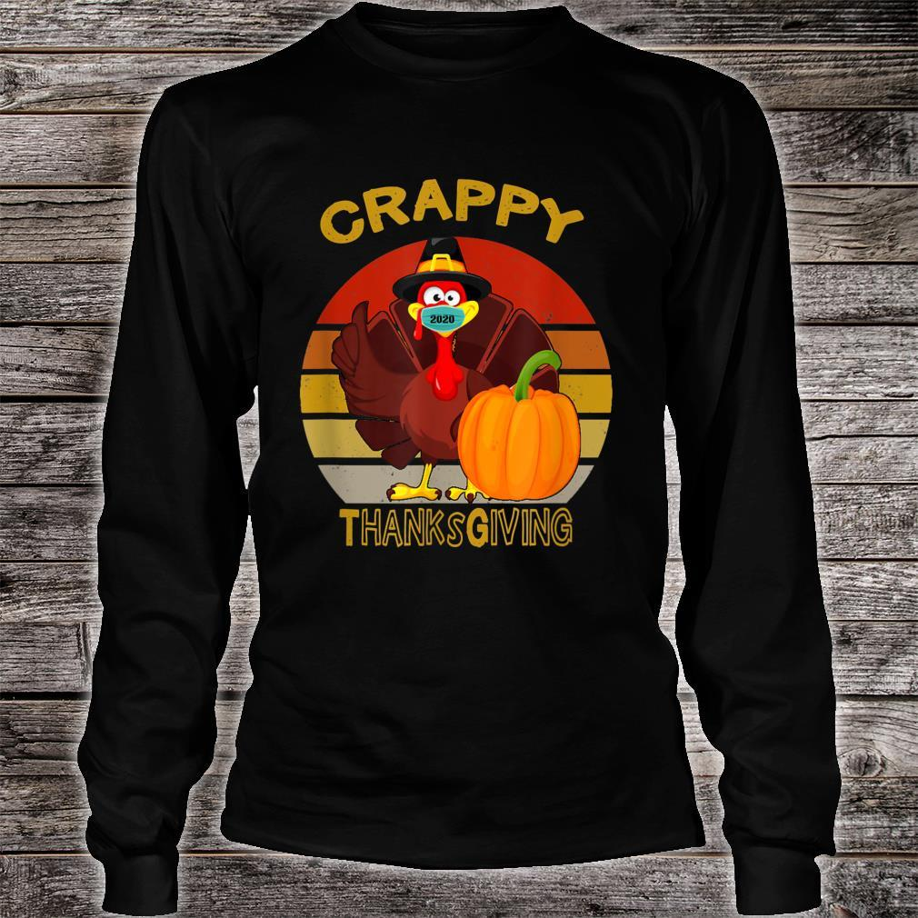 Silly Turkey Face Wearing A Mask Thanksgiving 2020 Shirt long sleeved