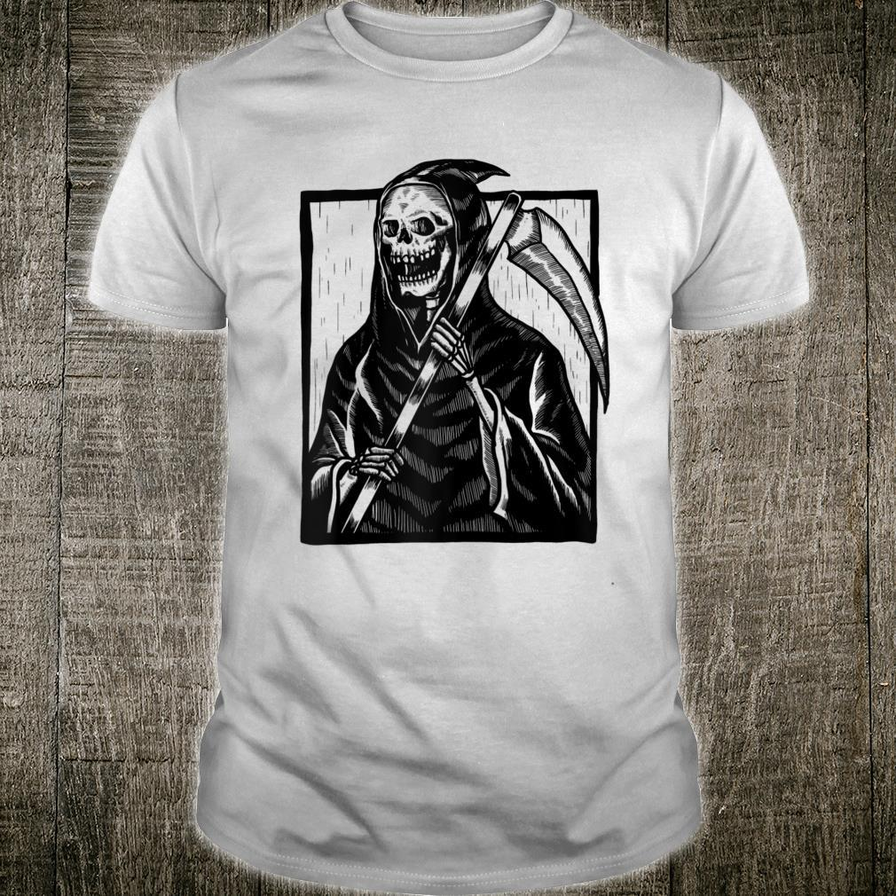 Smiling Angel of Death Vintage Goth Picture Shirt