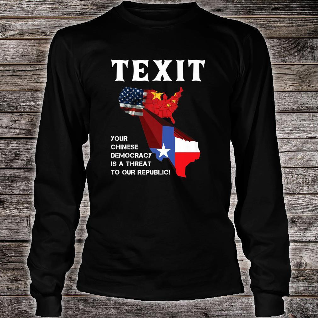 TEXIT Texas Independence Shirt long sleeved