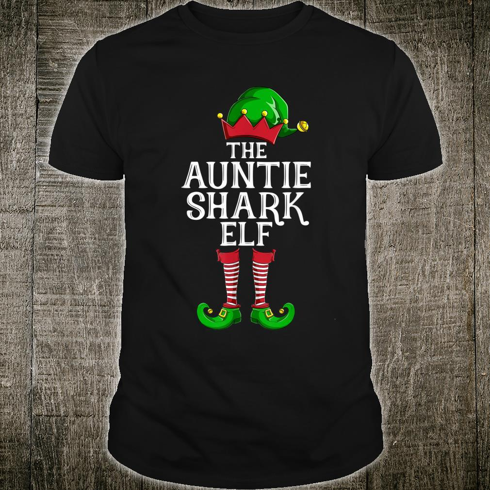 The Auntie Shark Elf Christmas Party Shirt