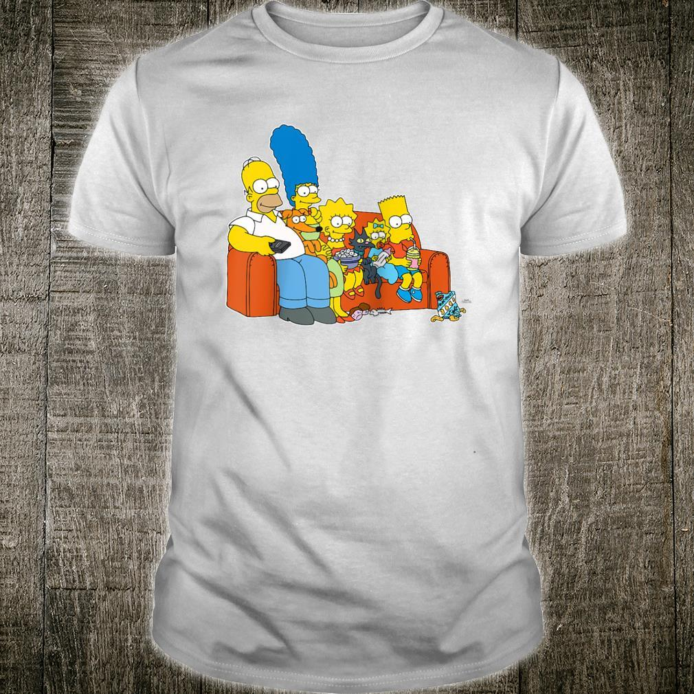 The Simpsons Homer Marge Maggie Bart Lisa Simpson Couch Shirt