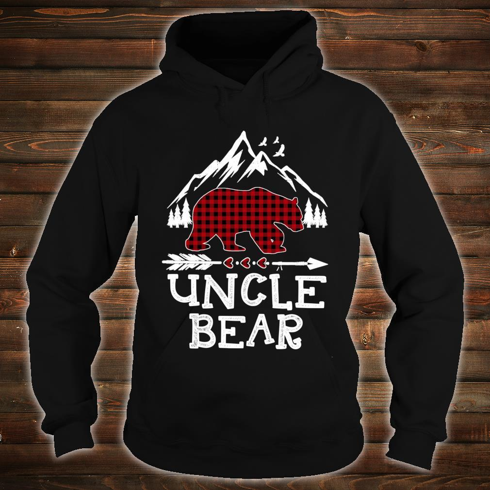 Uncle Bear Christmas Pajama Red Plaid Buffalo Family Shirt hoodie