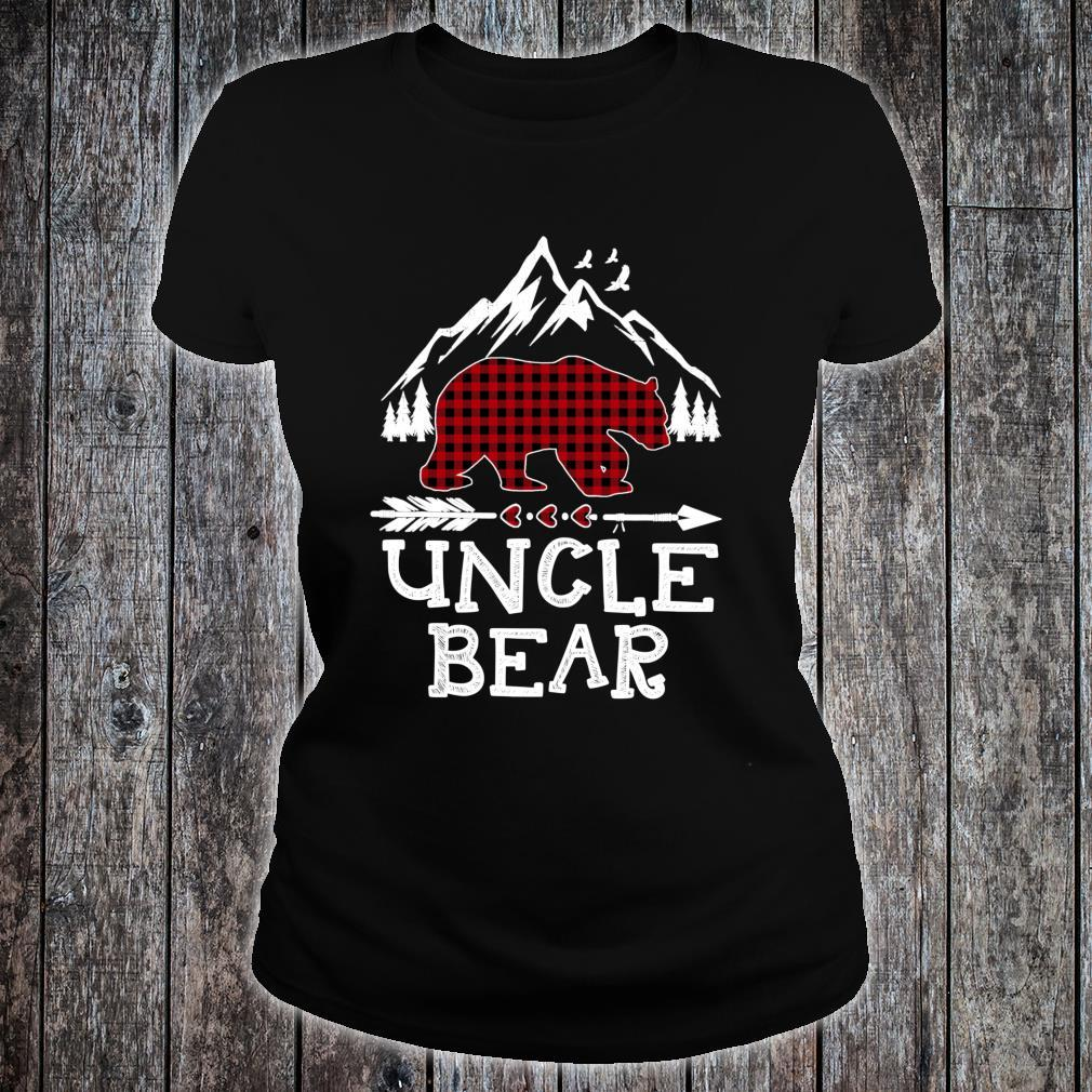 Uncle Bear Christmas Pajama Red Plaid Buffalo Family Shirt ladies tee