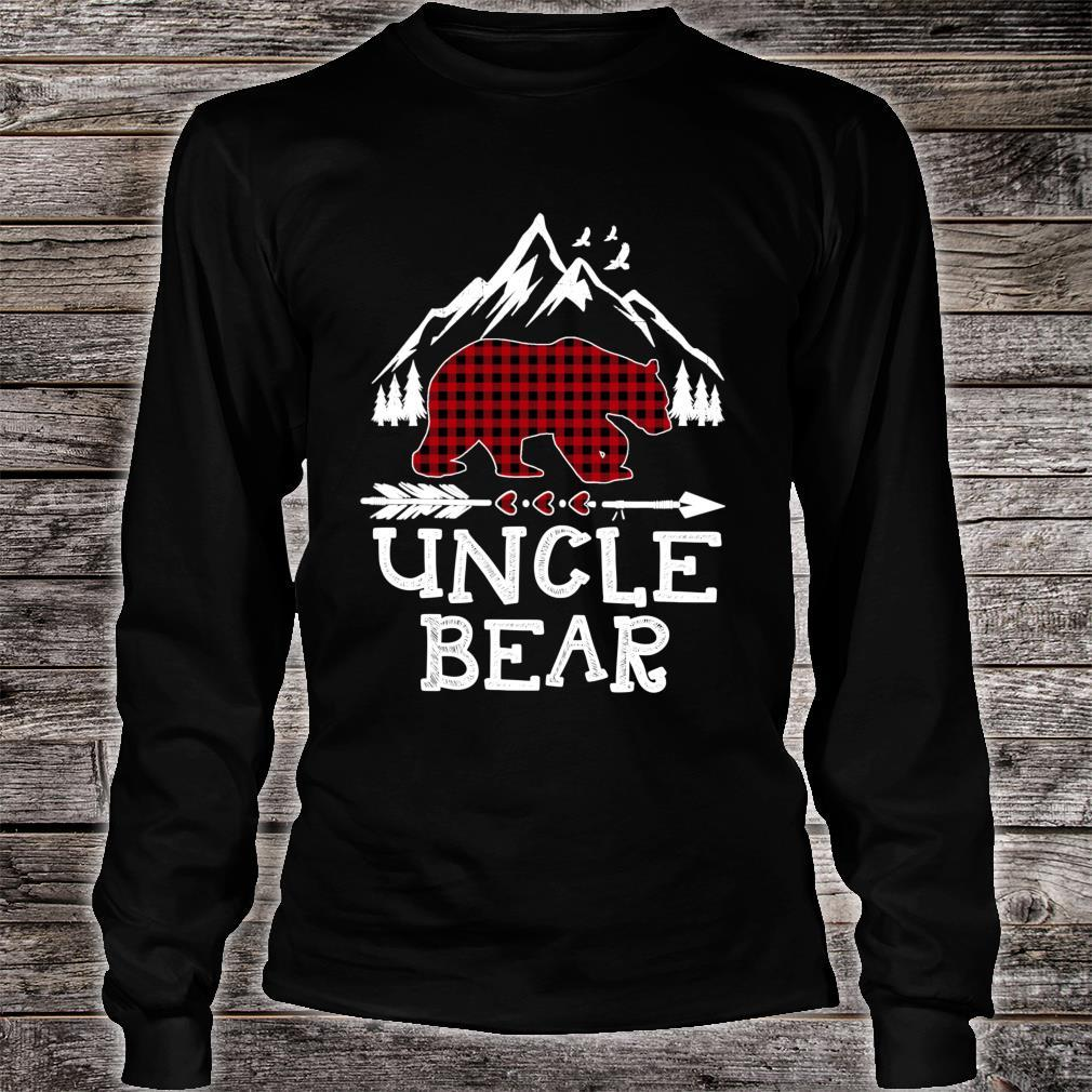 Uncle Bear Christmas Pajama Red Plaid Buffalo Family Shirt long sleeved