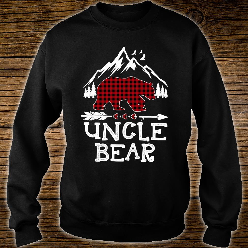 Uncle Bear Christmas Pajama Red Plaid Buffalo Family Shirt sweater