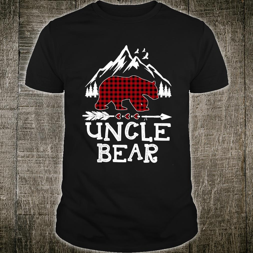 Uncle Bear Christmas Pajama Red Plaid Buffalo Family Shirt