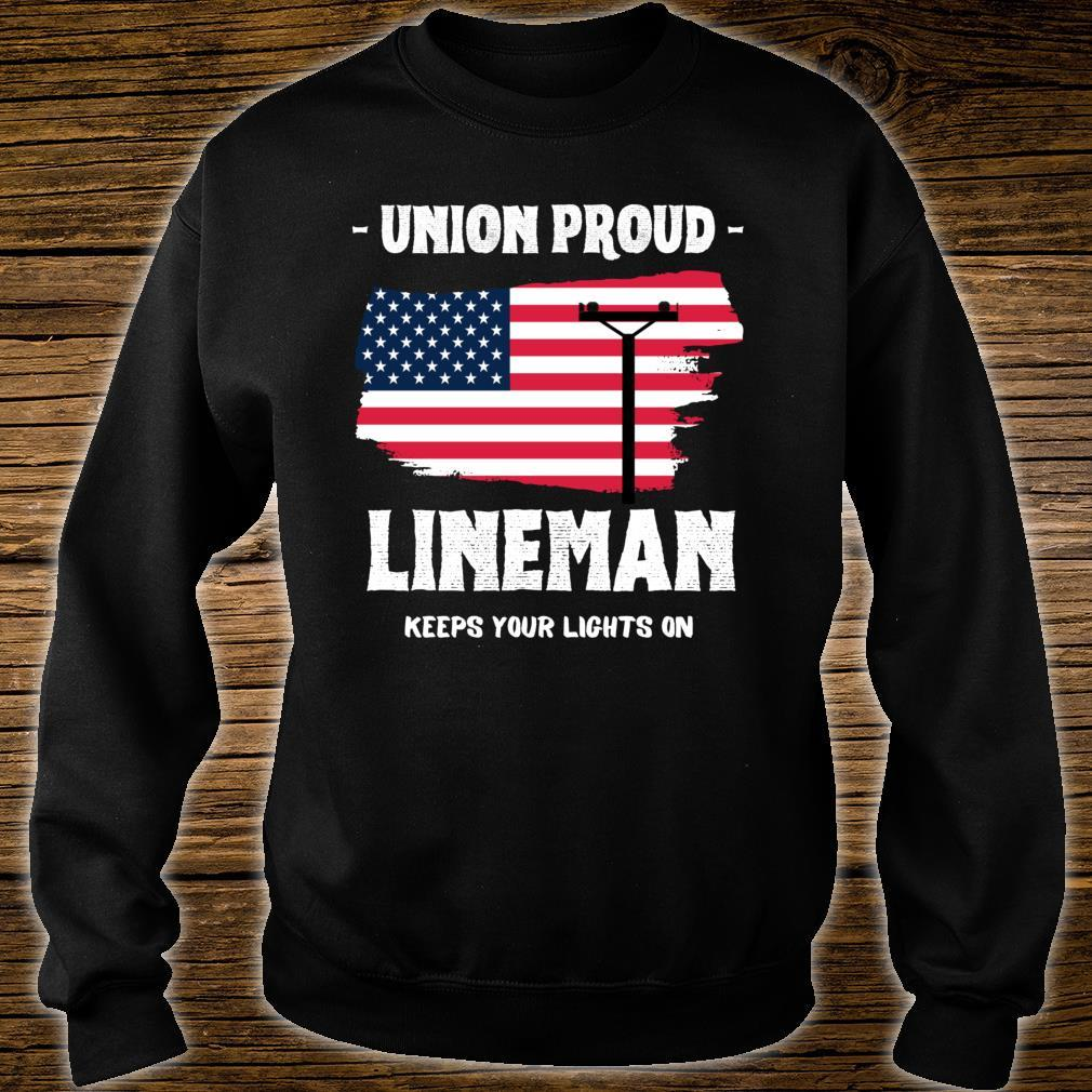 Union Proud Lineman Keeps Your Lights On Shirt sweater