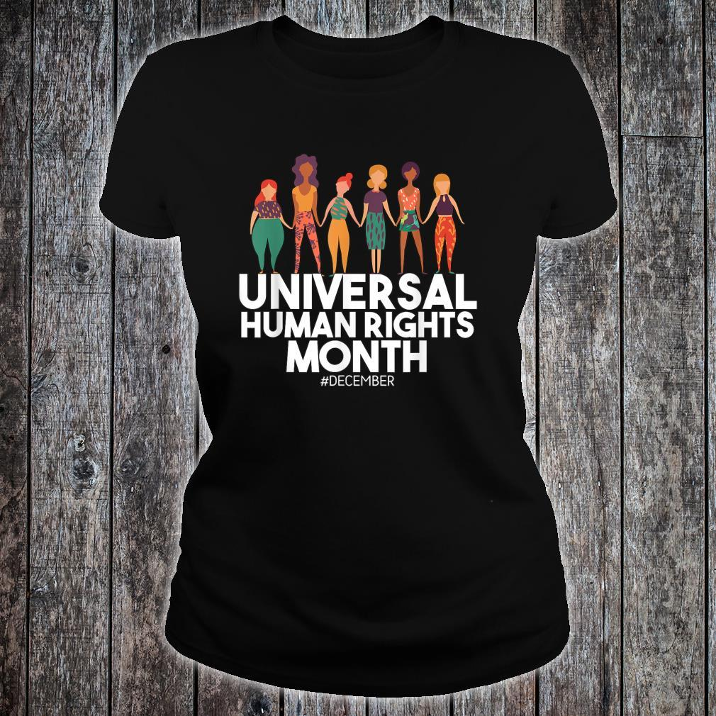 Universal And Empowered Human Rights Art Shirt ladies tee