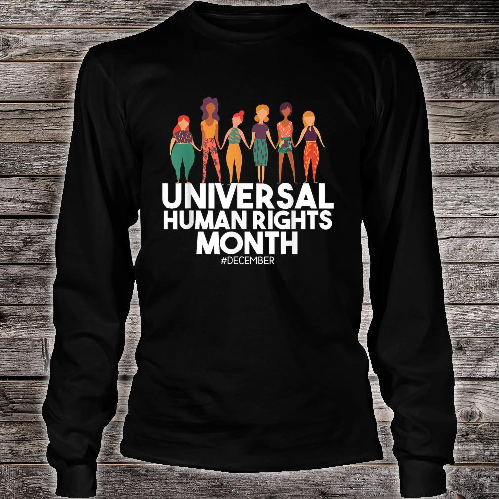 Universal And Empowered Human Rights Art Shirt long sleeved