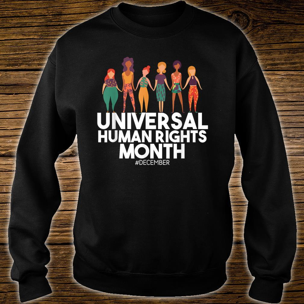 Universal And Empowered Human Rights Art Shirt sweater