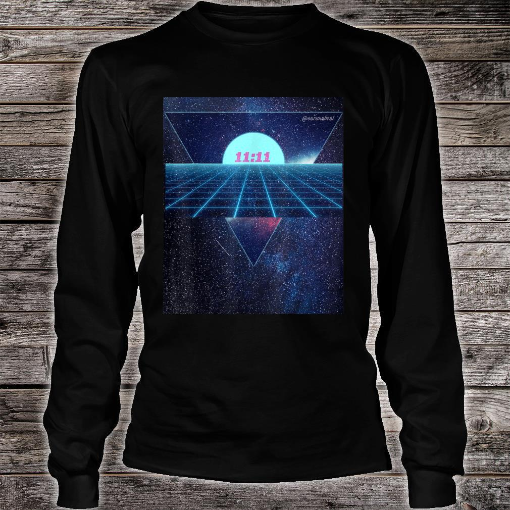 Vaporwave 1111 Into The Abyss Space EDM PLUR Vibe Dreams Shirt long sleeved