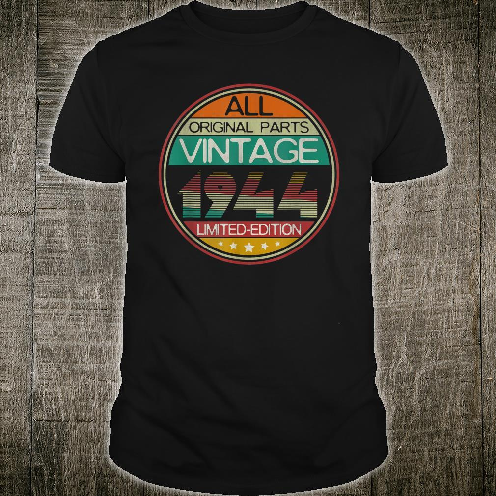 Vintage 1944 77 Year Old 77th Birthday Him Her Shirt
