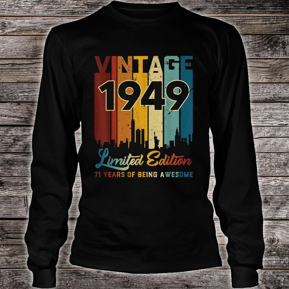 Vintage 1949 71 Years Old 71st Birthday Shirt long sleeved