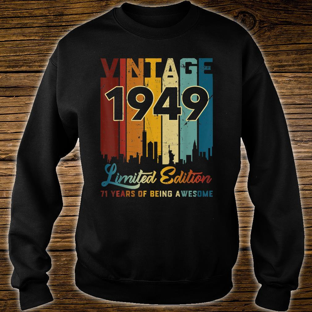 Vintage 1949 71 Years Old 71st Birthday Shirt sweater