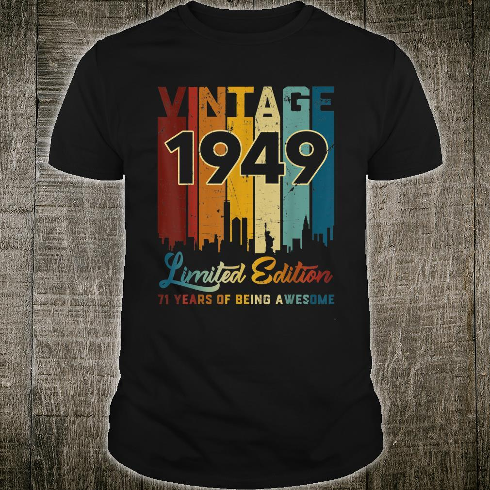 Vintage 1949 71 Years Old 71st Birthday Shirt