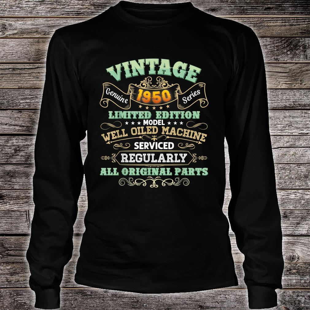 Vintage 1950 Made In 71 Years Old 71st Birthday Original Shirt long sleeved