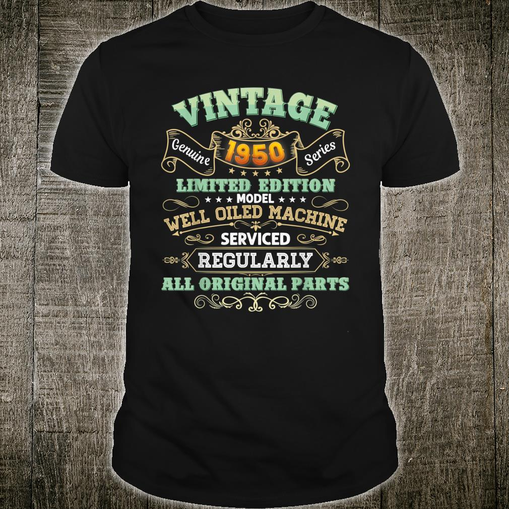 Vintage 1950 Made In 71 Years Old 71st Birthday Original Shirt