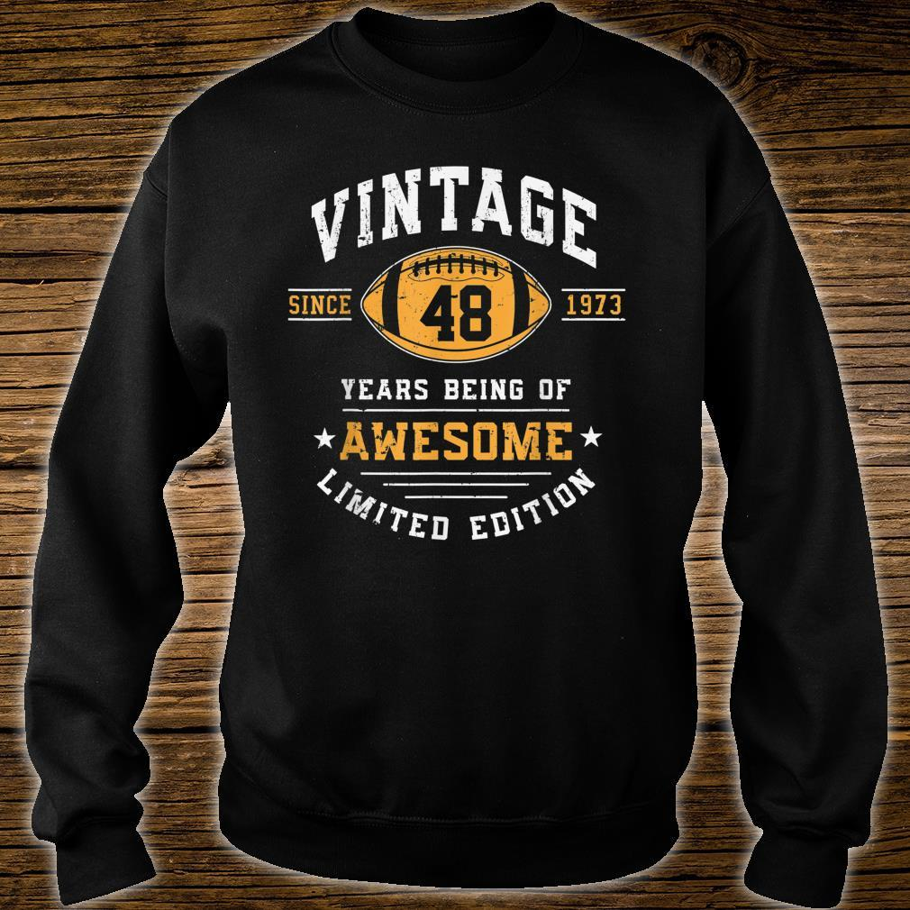 Vintage 1973 48 Years Old Awesome Shirt sweater