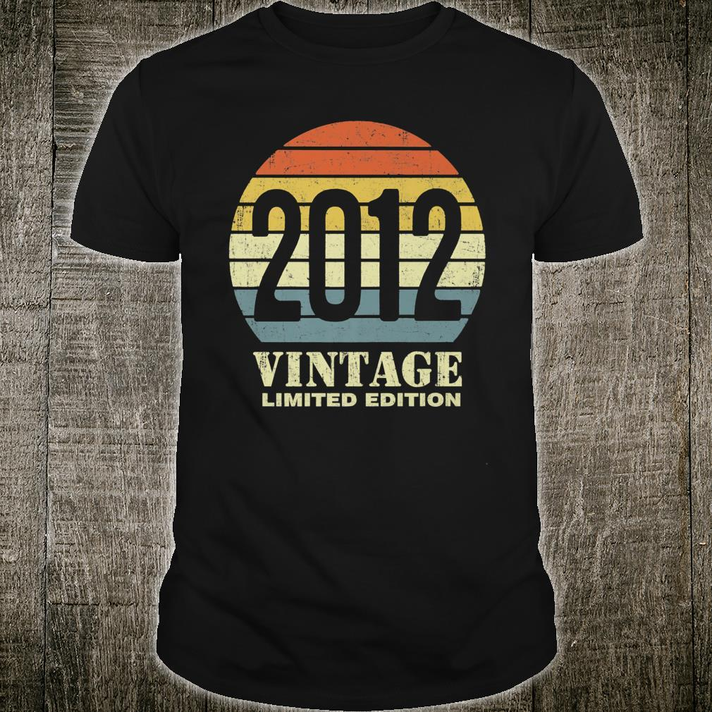 Vintage 2012 Limited Edition 9th Birthday Shirt
