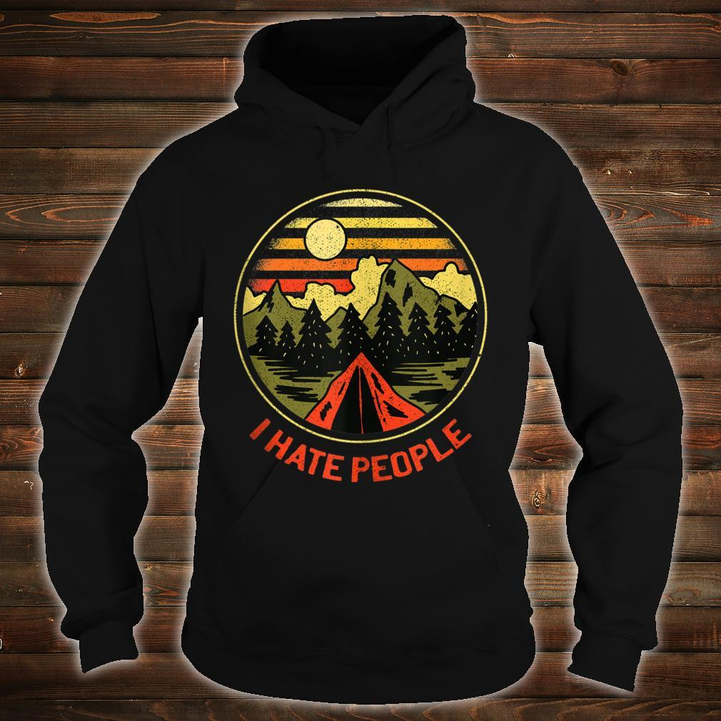 Vintage Camping Hiking Forest Mountains I Hate People Shirt hoodie