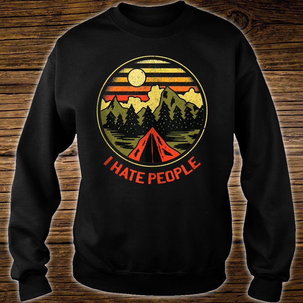 Vintage Camping Hiking Forest Mountains I Hate People Shirt sweater