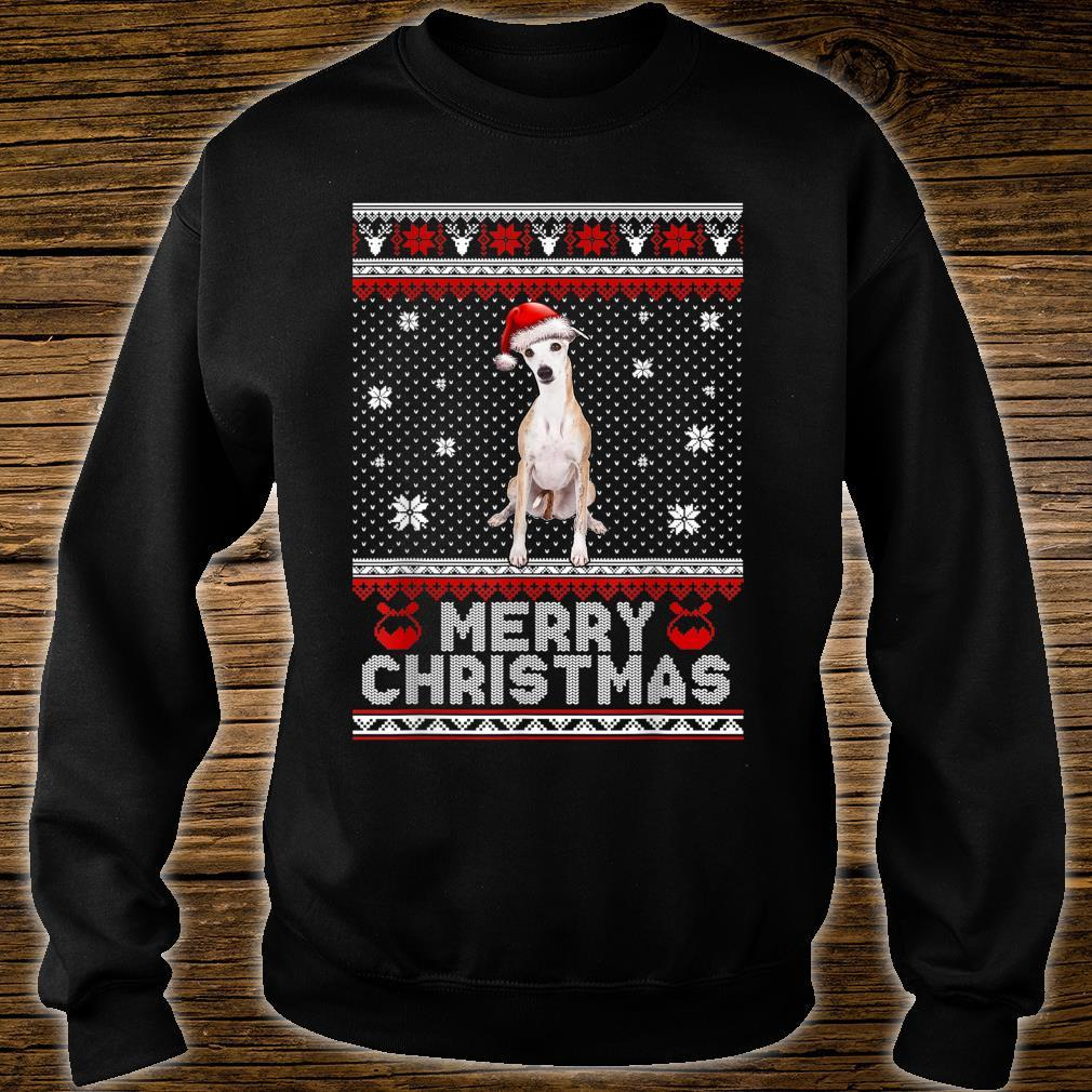 Whippet Dog Merry Christmas Ugly Shirt sweater