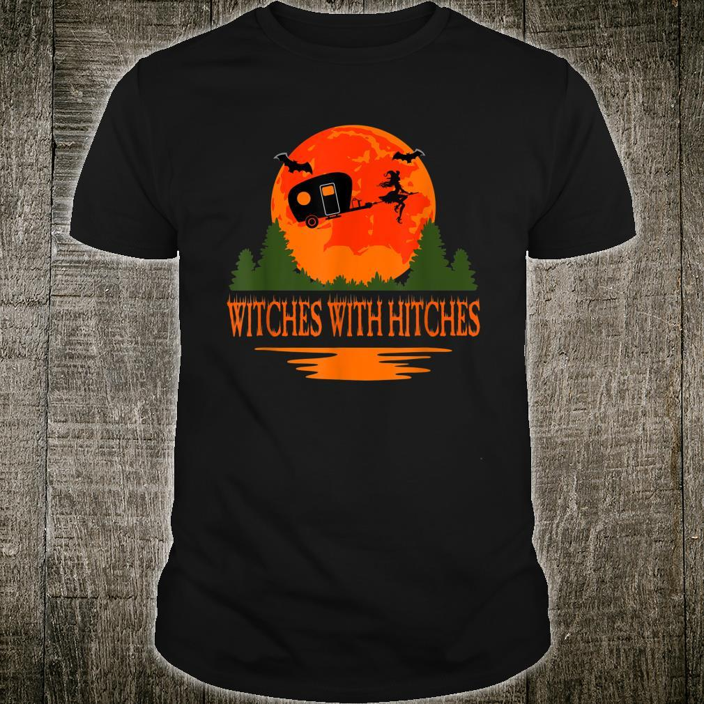 Witches With Hitches Halloween Camping Scary Shirt