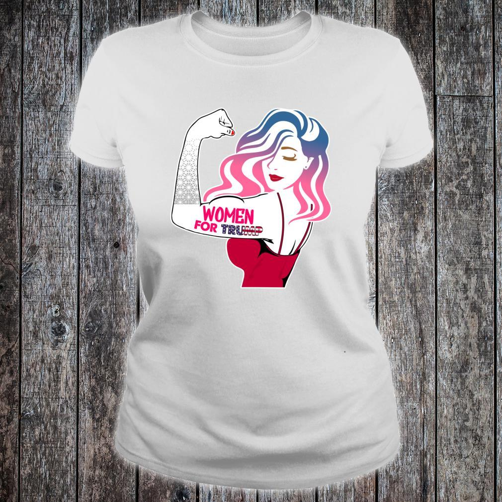 Women for Trump Conservative Republican Shirt ladies tee