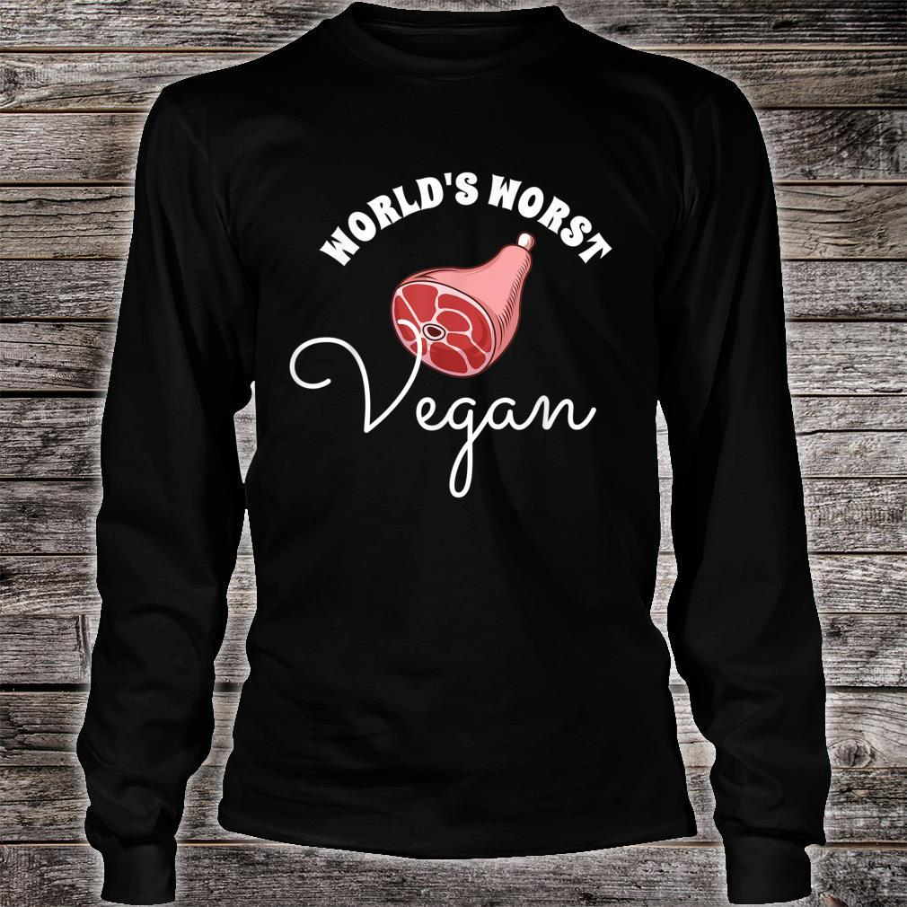 World's Worst Vegan Grilling Grill Master Shirt long sleeved