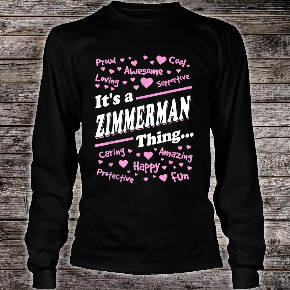 Zimmerman Surname last name Family It's a Zimmerman thing Shirt long sleeved